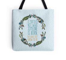 Harry Potter Floral Watercolour Typography Quote Tote Bag