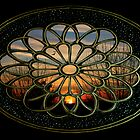 Medallion Window ~ Winter Sunset by SummerJade