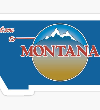 Welcome to Montana, Road Sign, USA  Sticker