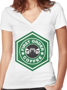 First Order Coffee Women's Fitted V-Neck T-Shirt