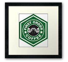 First Order Coffee Framed Print