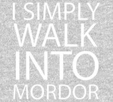 I simply walk into Mordor (no eye) Kids Clothes