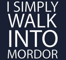 I simply walk into Mordor (no eye) Kids Tee