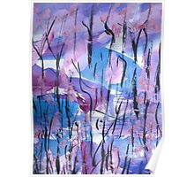 spring forest.... leafless trees Poster