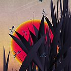 Red Heat (with Dragonflies) by angelo cerantola