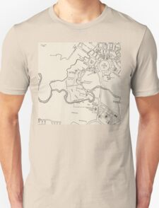 Canberra Tourist Map 1950 Unisex T-Shirt