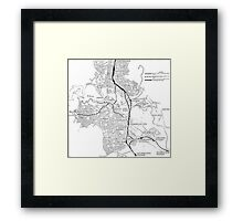 Canberra Railway Stations and Lines Framed Print