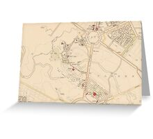 Canberra Acton Map 1933 Greeting Card