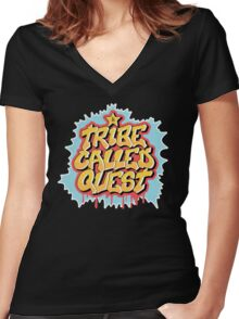 A Tribe Called Quest Walled Gravity Women's Fitted V-Neck T-Shirt