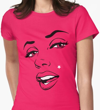 Movie Star Womens Fitted T-Shirt