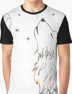 Colorful Howling Wolf 3 Graphic T-Shirt