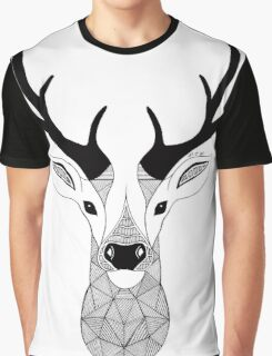 Deer Black and White Graphic T-Shirt