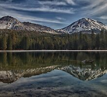 Mt. Lassen and Chaos Crags Reflection by dwservingHim