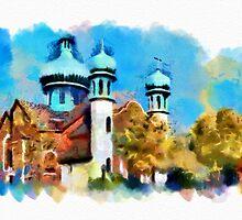 Ukrainian Catholic Church - watercolour by PhotosByHealy