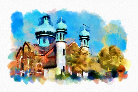 Ukrainian Catholic Church - watercolour by PhotosByHealy
