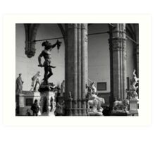 Florence statues Art Print