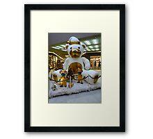 giant teddy bear Framed Print