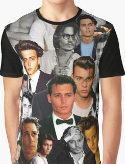 Johnny Depp Collage Graphic T-Shirt
