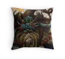 Wishta Fool Tarot  Throw Pillow