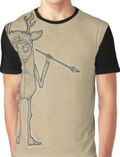 Deer Guy Spirit Animal Graphic T-Shirt