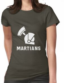 Mars State University Martians White Womens Fitted T-Shirt