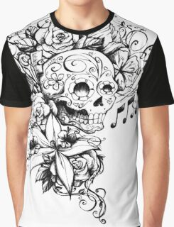 Singing Sugar Skull  Graphic T-Shirt