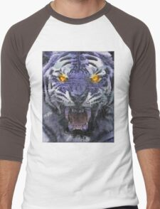 Psychedelic Tiger Poster Men's Baseball ¾ T-Shirt