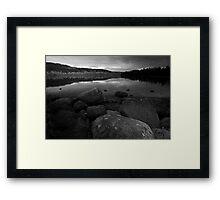 Port Moody - Rocks and Ocean Framed Print