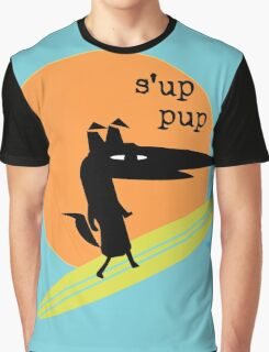 Surfs Up Pup Graphic T-Shirt