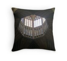 The lantern Ely Cathedral Throw Pillow