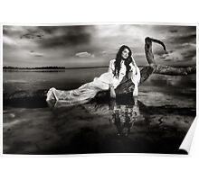 Shimmering Venus B&W Poster
