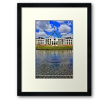 HDR Parliament House Framed Print