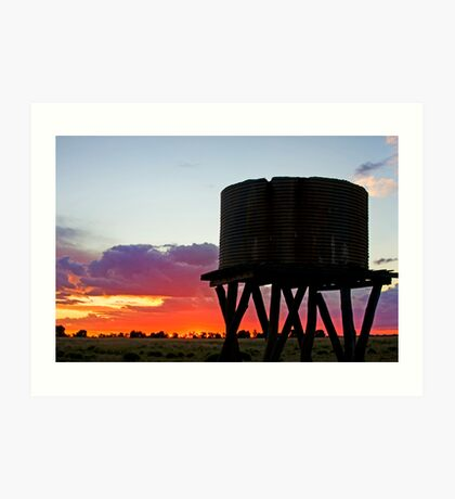 Sunset on the Downs - Inglewood Qld Australia Art Print