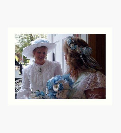 Bride and Matron of Honor Art Print