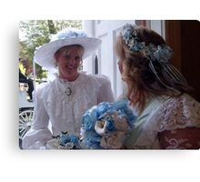 Bride and Matron of Honor Canvas Print