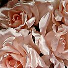Pink Satin Roses and Pearls Bride Bouquet by Jane Neill-Hancock
