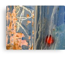 Colorful Metal and Rust Canvas Print