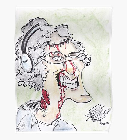 Howard Stern Zombie Caricature Poster