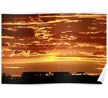 coucher de soleil Poster