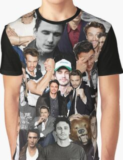 James Franco Collage Graphic T-Shirt
