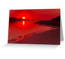 """Hot Summer's Dawn"" Greeting Card"