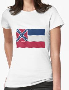 Mississippi flag Womens Fitted T-Shirt