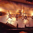 Mural, Air & Space Museum, Washington, USA, 1984, #2 by johnrf