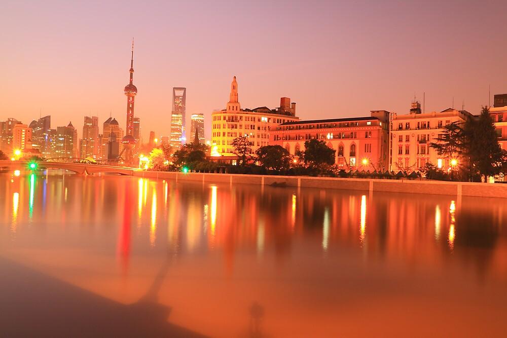 Shanghai Dawn skyline by ArtPhotographer