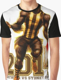 'The Mighty Premiers From Hawthorn' 2014 Print By Grange Wallis Graphic T-Shirt