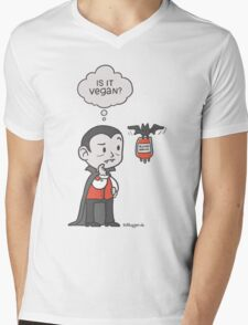 Vegan Vampire Mens V-Neck T-Shirt