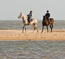 A Morning ride on Curracloe beach, County Wexford, Ireland by Andrew Jones