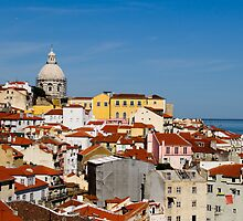 Rooftops, Lisbon Portugal by Andrew Jones