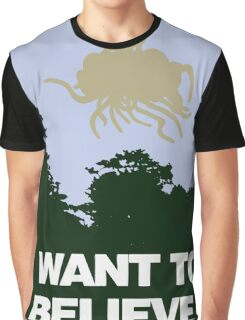 I Want to Believe in the Flying Spaghetti Monster Graphic T-Shirt