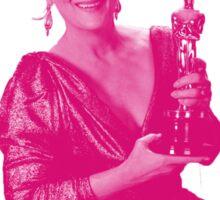 Meryl Streep with her third oscar Sticker